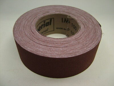 Brown Emery Cloth Roll, 50mm wide 25m roll aluminium oxide sandpaper 150 grit