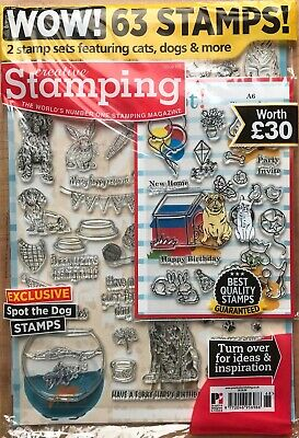 Creative Stamping Magazine Issue 68 FREE Furry Friends clear stamps