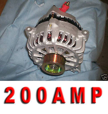 FORD Mustang GT 200 HIGH AMP Alternator 05 06-08 4.6L W Clutch Pulley Generator