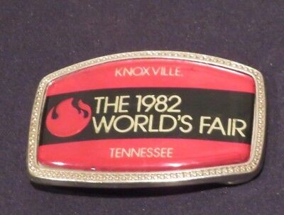 Belt Buckle KNOXVILLE TENNESSEE World's Fair 1982 Vintage Metal (ab2645)