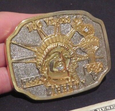 Belt Buckle 100 Years of Liberty Statue 1886-1986 Vintage  ab2651