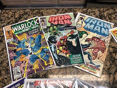 30 Comic Book Grab Bag Marvel DC Image Iron Man Xmen Avengers bagged and boarded