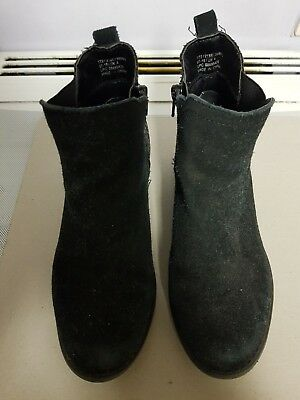 Girls Marks and Spencer Girls Black Boots Size 4