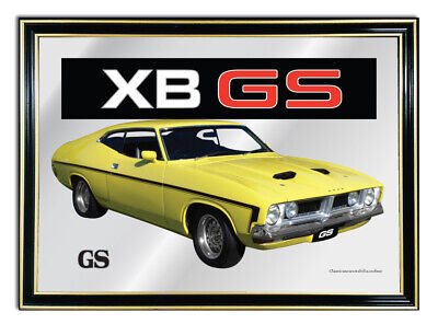 Bar-Mirror-Picture-Sign-Artwork-Yellow-Ford-Xb-Gs-Coupe-Enthusiast