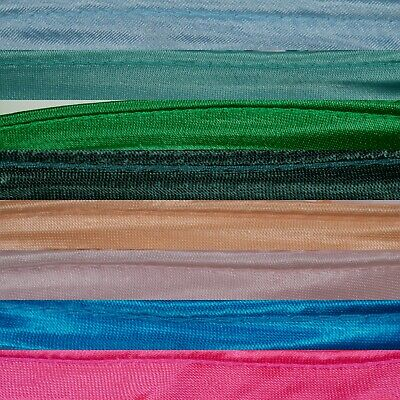 Pipe Satin Bias Binding Tape Insertion Cord Flanged Piping | 10 - 15mm Colours