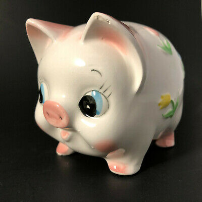 Vintage Brinn's Ceramic Piggy Bank Coin Pig Japan