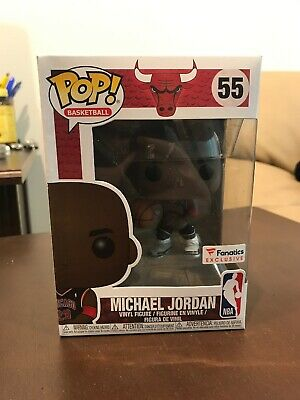 Funko Pop Michael Jordan Fanatics Exclusive NBA Chicago Bulls Protective Case 55