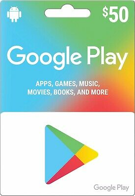 Google Play Gift Card $50 Canadian Dollars for Canada Google Play Store