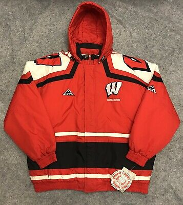 Vintage 90s Reebok Wisconsin Badgers Ncaa Coaches Pullover Jacket Red Xl Fan Apparel & Souvenirs Clothing, Shoes & Accessories
