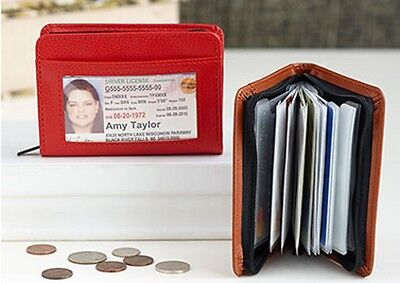 34 Zip Up RFID Security ID Credit Card Holders ~ U Choose Yours