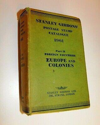 Stanley Gibbons Postage Stamp Catalogue 1961 part 2 Europe & Colonies