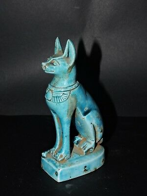 RARE ANCIENT EGYPTIAN ANTIQUE Statue Of Goddess Cat Bast-Bastet Stone