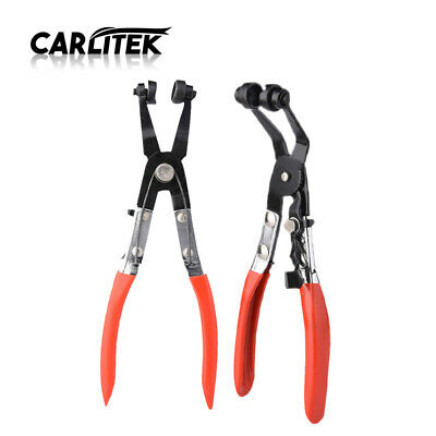 Locking Car Water Pipe Hose Clamp Pliers Fuel Coolant Clip Curved Tube Pliers