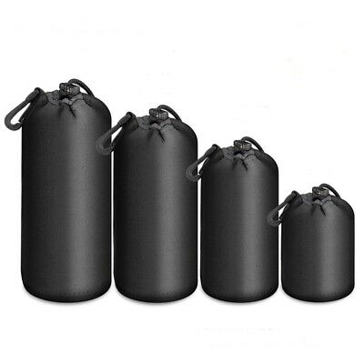 Waterproof Drapstring Bag for Camera Lens Padded Pouch Protector Case Black Bags