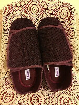 75f6efe10aa Silvert s Womens 10100 Extra Extra Wide Adaptive Slippers Size ...