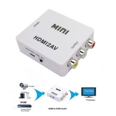 HDMI to RCA CVBS AV Adapter Mini Video Converter 1080P Composite Audio For HD TV