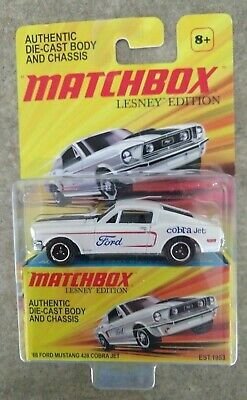 MATCHBOX 1/64 LESNEY Edition HTF '68 Ford Mustang 428 Cobra Jet 2010 Release