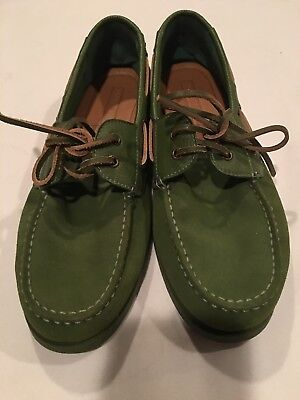 bc963b275 Tommy Hilfiger Bowman Green Suede Lace Up Casual Fashion Boat Shoes Mens  Size 11