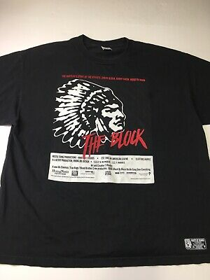 7cad22e60c HUSTLE GANG Of America The Block Men s XXL T Shirt Streetwear Rap Hip Hop