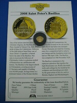 MACQUARIE MINT-THE SMALLEST Gold Coins of the World Collection