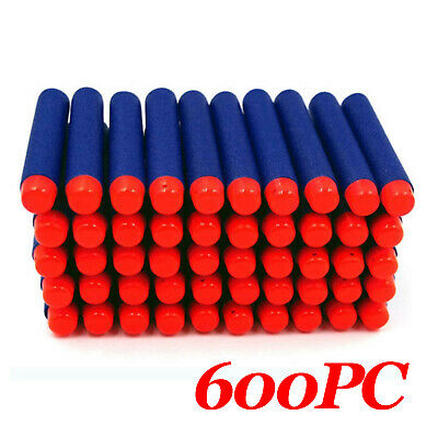 600pcs Round Head Bullets Toy Refill Gun Darts Blasters for Elite NERF N-Strike