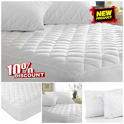 New Extra Deep Quilted Mattress Protector Fitted Wet Sheet Nursery Bedding Cover