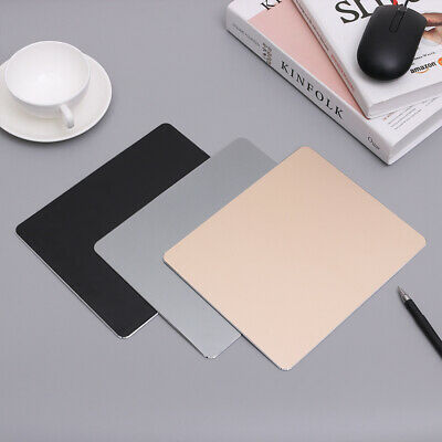 Thin Metal Aluminum Alloy Mouse Pad Computer Gaming Mice Mat For PC Laptop