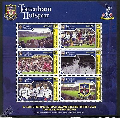 TOTTENHAM HOTSPUR Football Club Stamp Sheet (Spurs/White Hart Lane/UEFA Cup)
