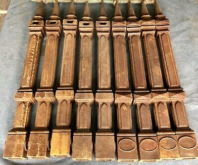 Victorian Gothic Style Cast Iron Fence Posts,Bollards.9 Identical Posts Availab