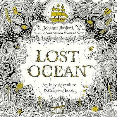 Lost Ocean: An Inky Adventure and Coloring Book for Adults, Basford, Johanna, Go