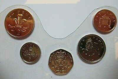 1997 Small Coins set BRILLIANT UNCIRCULATED in protective seals - FREE P&P