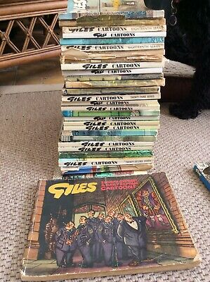 Giles cartoon annuals and Andy Capp