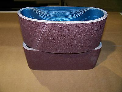 "Premium  A/O,  X-Weight  Sanding  Belts  4"" X 24"",  10 - Pack,  16-Grit"