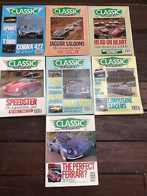 1990 CLASSIC AND SPORTS CAR MAGAZINES x 7