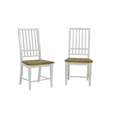 Progressive Furniture Light Oak/Distressed White Dining Chair, Set of 2