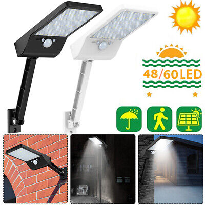 48 LED Solar Powered PIR Motion Sensor Security Light Outdoor Garden Wall Lamp