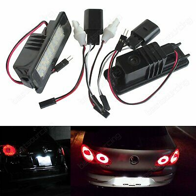 24 SMD Canbus LED License Number Plate Light For VW Golf GTI MK6 MK5 Passat Polo