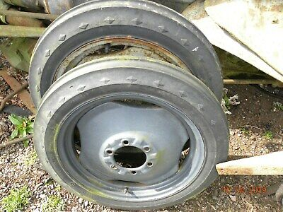 Grey Fergie pair of front wheels and tyres