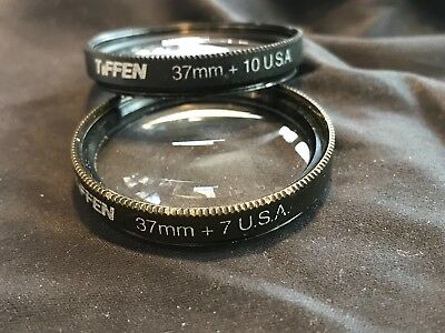 tiffen megaplus lenses 37mm conversion  lens +7 , +10 close up lens