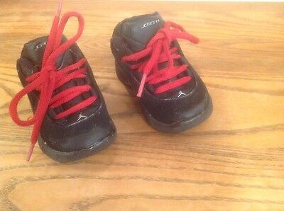 Nike Air Jordan Child Athletic Shoes Sz 5 Child Black With Red Cute