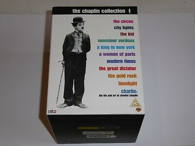 Charlie Chaplin - The Collection - GENUINE UK 18-Disc DVD SET -EXC COND Complete
