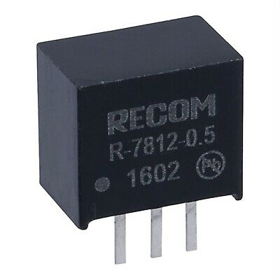 Recom R-7812-0.5 R78 12V 0.5A Single Out Converter SIL