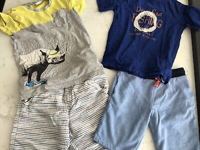 Bundle Of Boys T Shirt Tops and Shorts Aged 6-8 Years - Gap and H&M