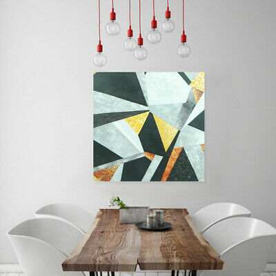 Hand Painted Modern Oil Painting Wall Art Decor Stretched Canvas Framed Rhombus