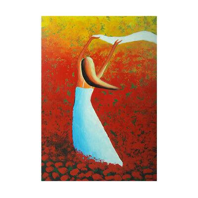 Abstract Pretty Girl Hand Painted Art Canvas Oil Painting Home Decor Framed