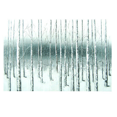 Abstract Hand Painted Art Canvas Oil Painting Home Decor Framed : Birch Forest