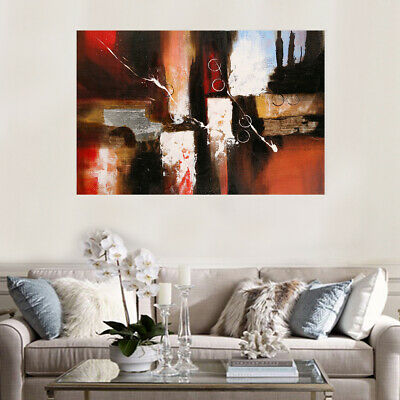 100% Pure Hand-painted Abstract Oil Painting Modern Wall Art Home Decor Framed