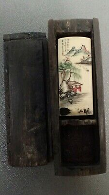 ancien cachet/sceau chinois antique chinese seal 19th century décor paysage