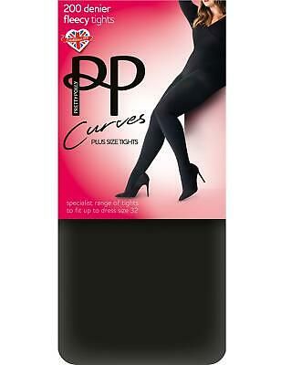 219ce125055 Pretty Polly Curves 200 Denier Fleecy Tights For Ladies With Curves