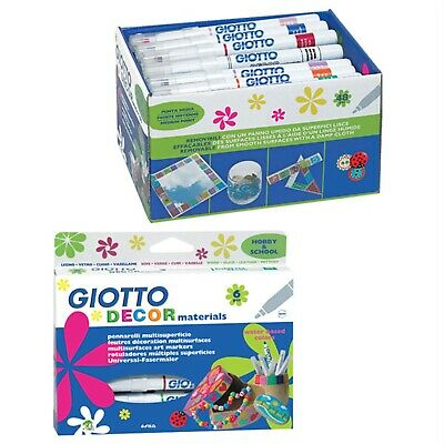 Giotto 453400 Décor Multisurface Art Markers Hangable Materials Box of 12